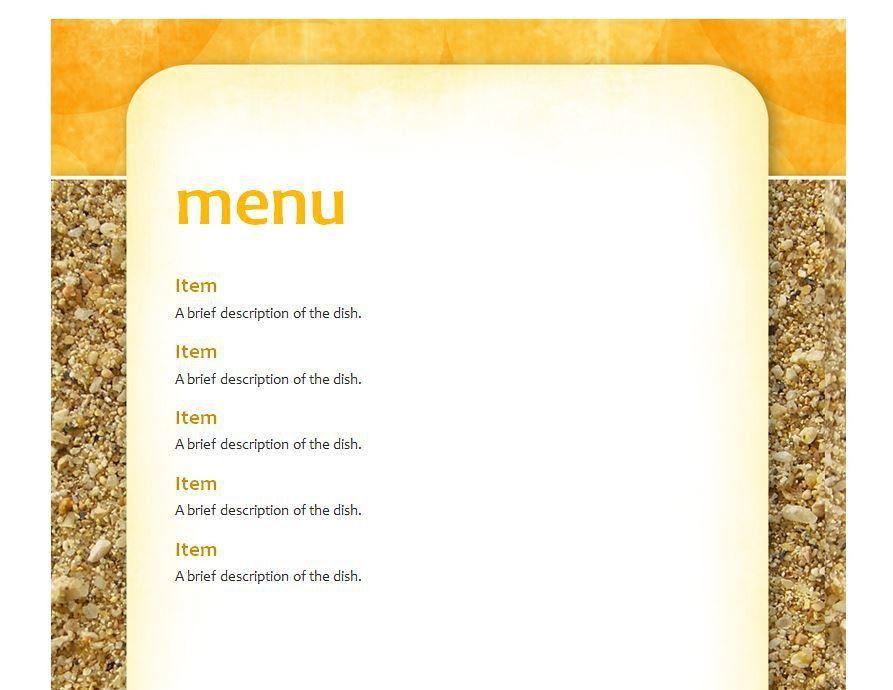 School Lunch Menu Template | School Menu Template