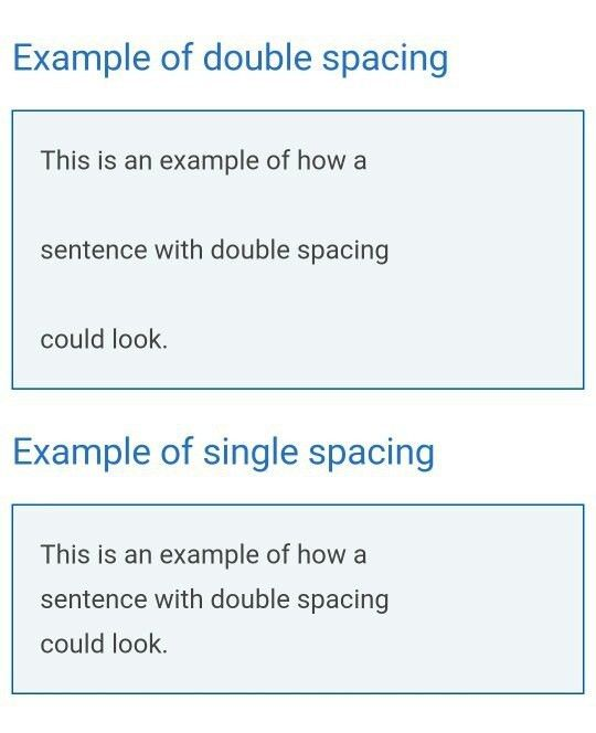 What does 'double spacing' mean? - Quora