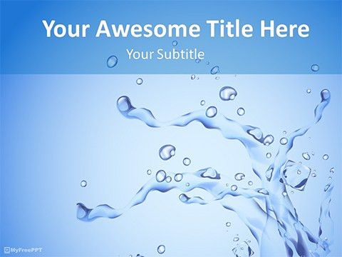 Free Water Themed PowerPoint Template - Download Free PPT