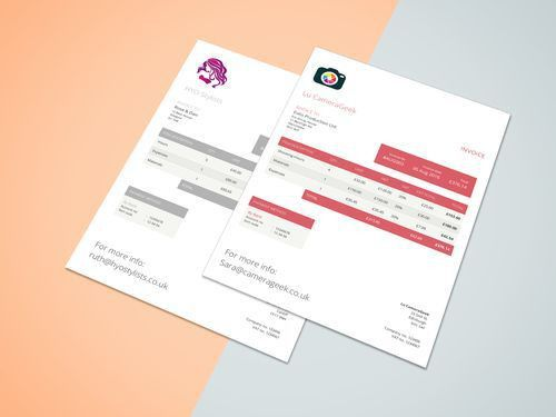 27 best Creative invoice templates for freelancers. images on ...