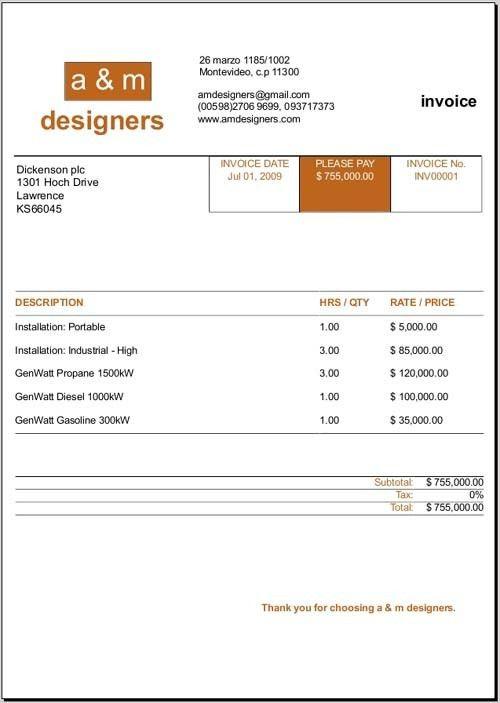 Download Invoice Template Graphic Design | rabitah.net
