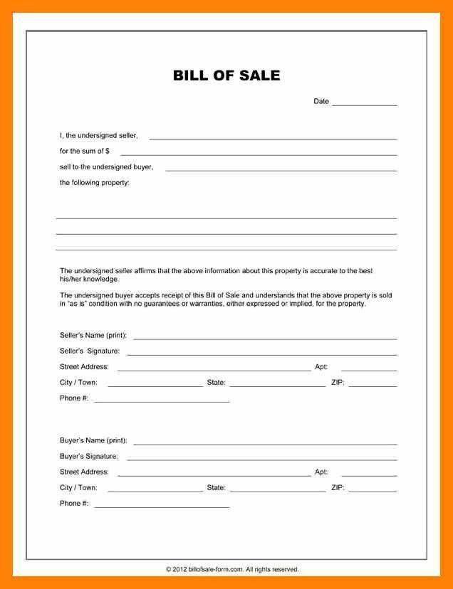9+ bill of sale receipt | informal letter