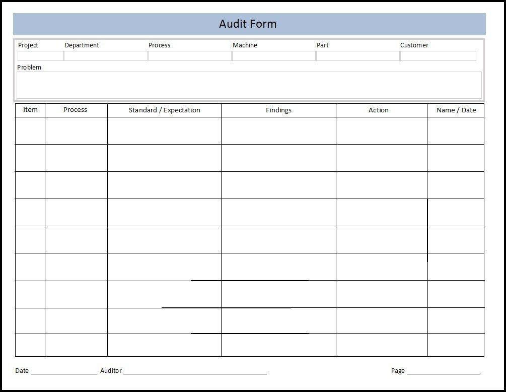 Audit Format, 3+ internal audit format cook resume, excellent 5s ...