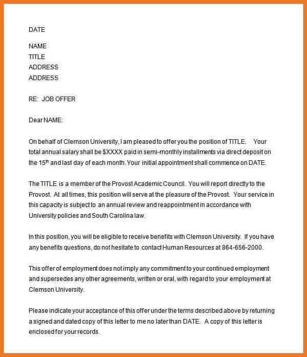 job offer letter template | art resume skills