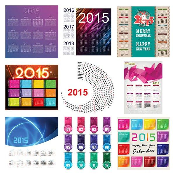 70+ best Vector 2015 calendar template design on Behance
