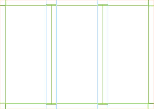 Blank Tri Fold Brochure Template for Microsoft Word : Helloalive