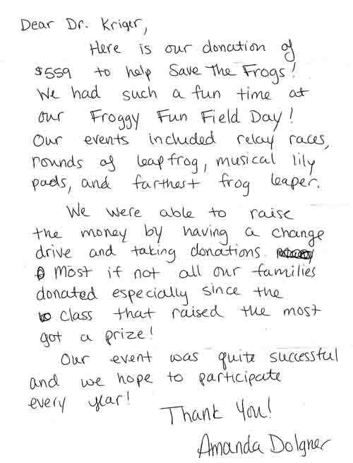 Students Who Are Helping Save The Frogs!