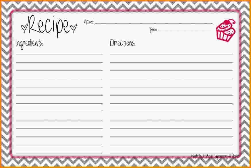 8+ recipe card template for word | Letter Template Word