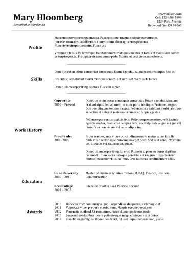 Basic Sample Resume 9 Examples Of Simple Resumes Career Services ...