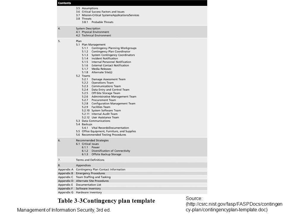 Emergency Contingency Plan Template - Contegri.com