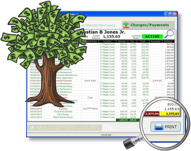 Lawn Landscape Accounting Software - Income & Expense Reports