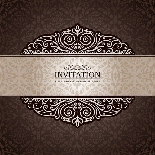 Invitation background designs free vector download (43,485 Free ...