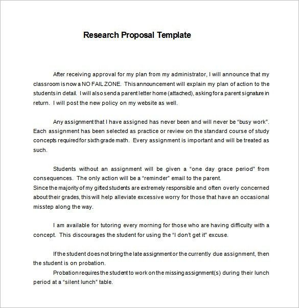 Research Proposal Template – 11+ Free Word, Excel, PDF Format ...
