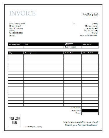Best Photos of Free Downloads Invoice Forms Word - Free Invoice ...