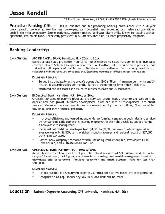 sample resume for bank jobs example investment banking