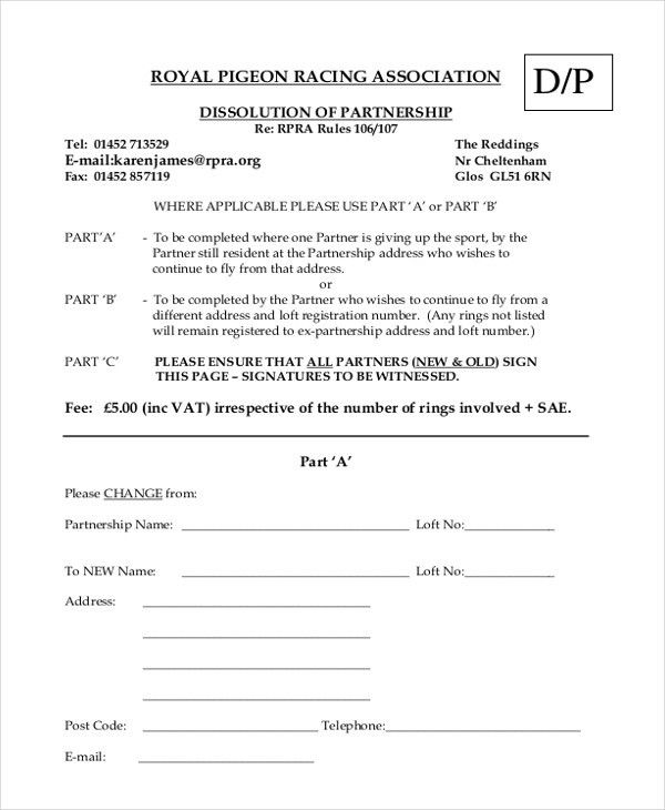 9+ Sample Partnership Agreement Forms - Free Sample, Example, Format