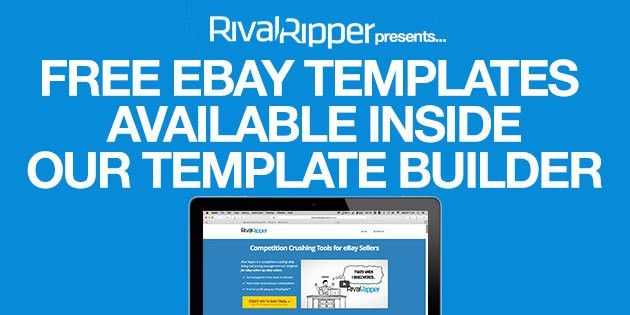 Free eBay Listing Templates Available Inside Our Template Builder