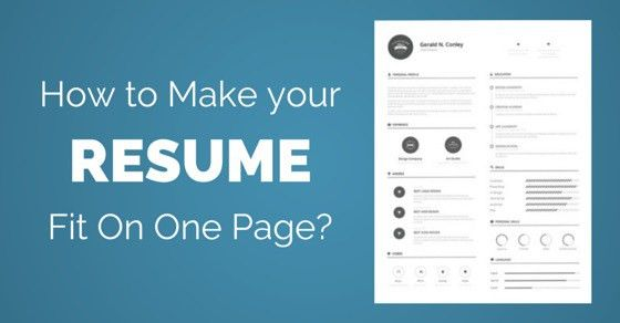 how to write a one page resume how to write a one page resume