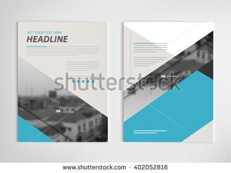Green Annual Report Brochure Template Design Stock Vector ...