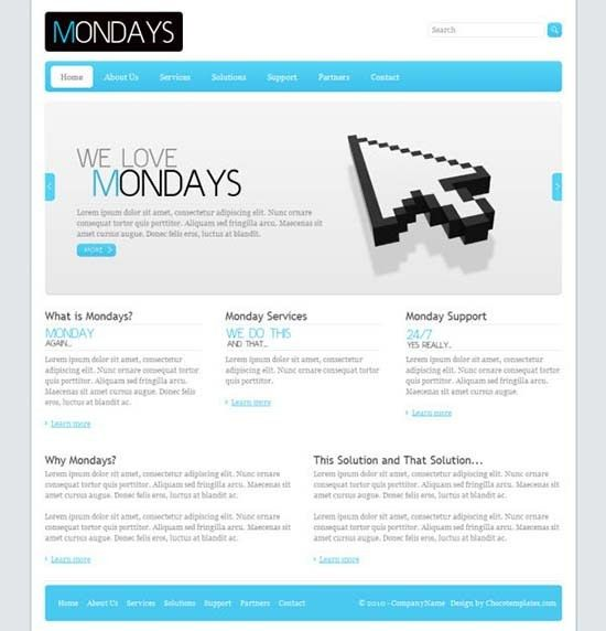 20 Free Business HTML/CSS Templates