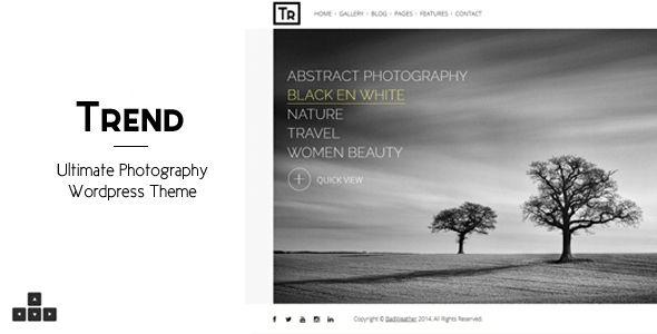 Trend - Photography WordPress Theme by Peenapo   ThemeForest