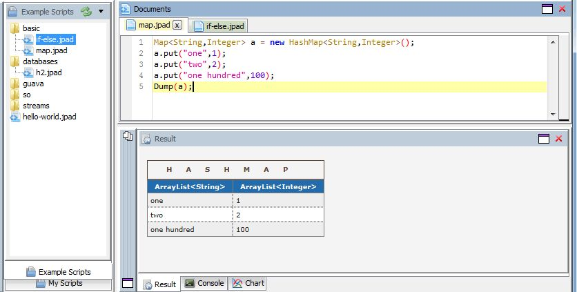 JPad - Java scratchpad, REPL and Snippet Runner