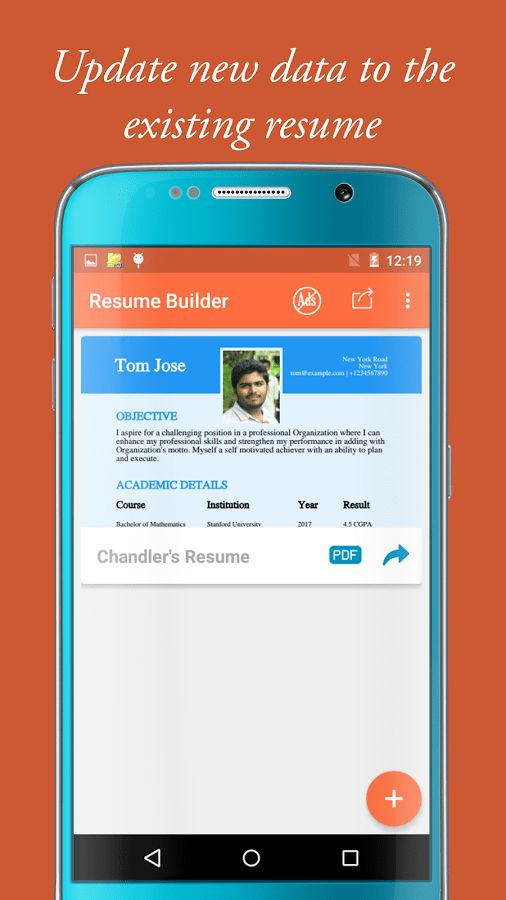 My Resume Builder & CV for free professional jobs - Android Apps ...