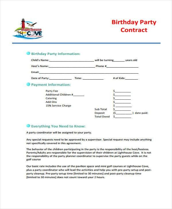 party planner contract template - thebridgesummit.co