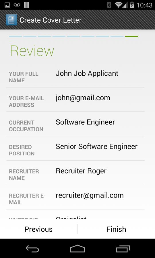 Cover Letter Maker - Android Apps on Google Play