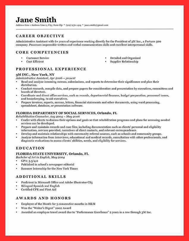 Formal Resume Sample Format. formal resume format good resume ...