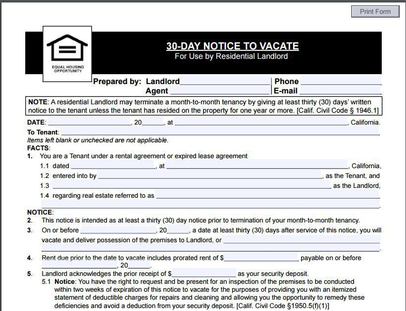 10 Eviction Notice Template Examples | Templates Assistant