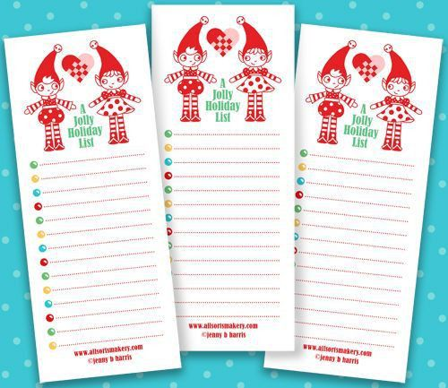 Christmas List Maker Free [Template.billybullock.us ]