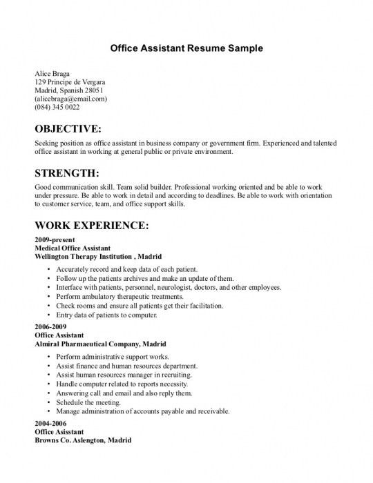 The Amazing Office Administration Sample Resume | Resume Format Web