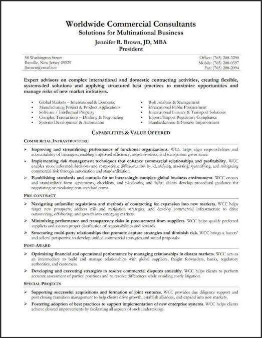 Resume Profile Statement Examples - Resume Templates