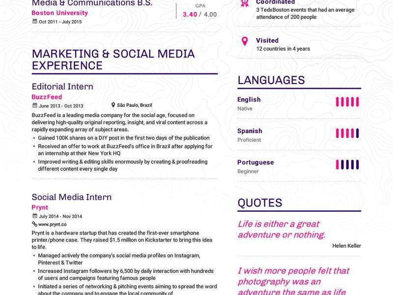 Exquisite Example Of Resume Pretentious - Resume CV Cover Letter