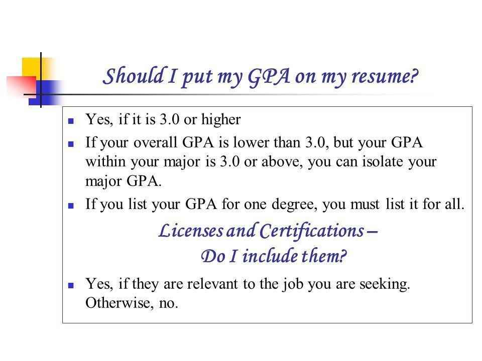 put gpa on resumes valuebook co