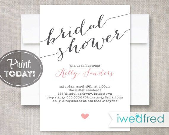 Bridal Shower Invitation, Bridal Shower Invitation, Printable ...