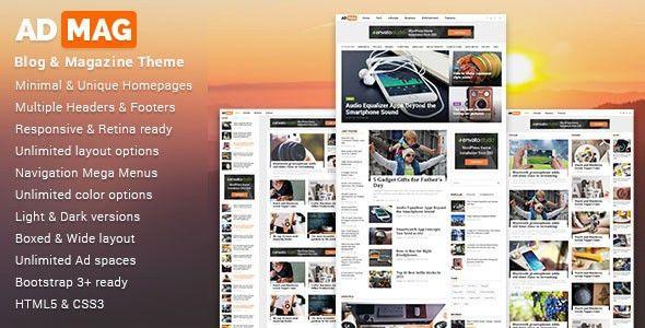 ADMAG - Responsive Blog & Magazine HTML Template by DigitalTheme ...