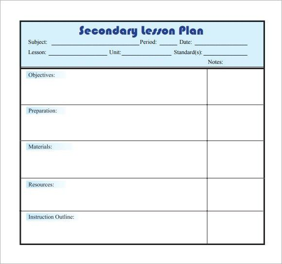 Daily Lesson Plan Template | Business Plan Template