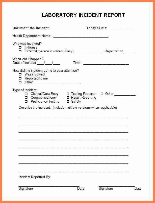 8+ medical incident report form | Invoice Example 2017