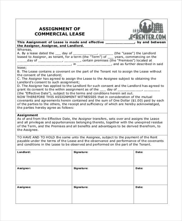 Sample Commercial Lease Form   9+ Free Documents Download In Word, PDF