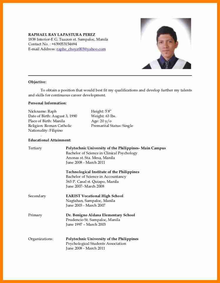 What Is The Format Of A Resume. Best Corporate Sector Cv Format ...