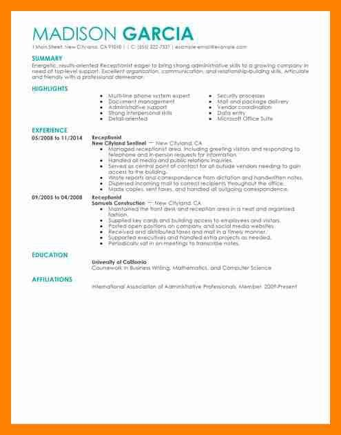 7+ front desk receptionist resume | doctors signature