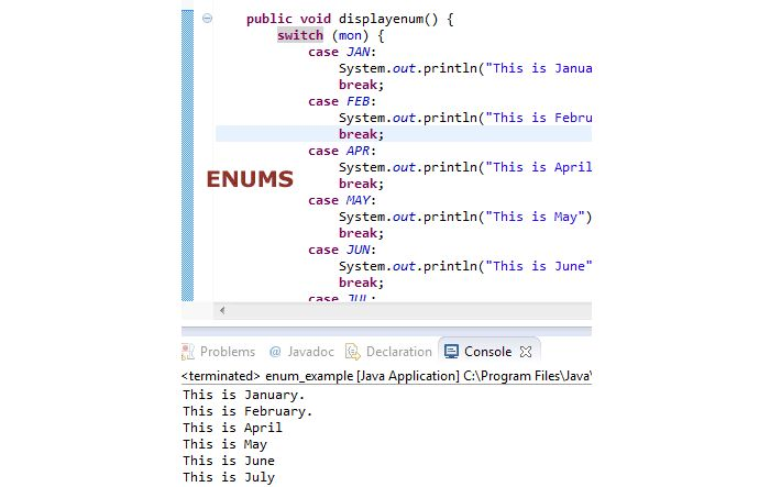 Learn to use Java enum With Examples | Tutorials Collection