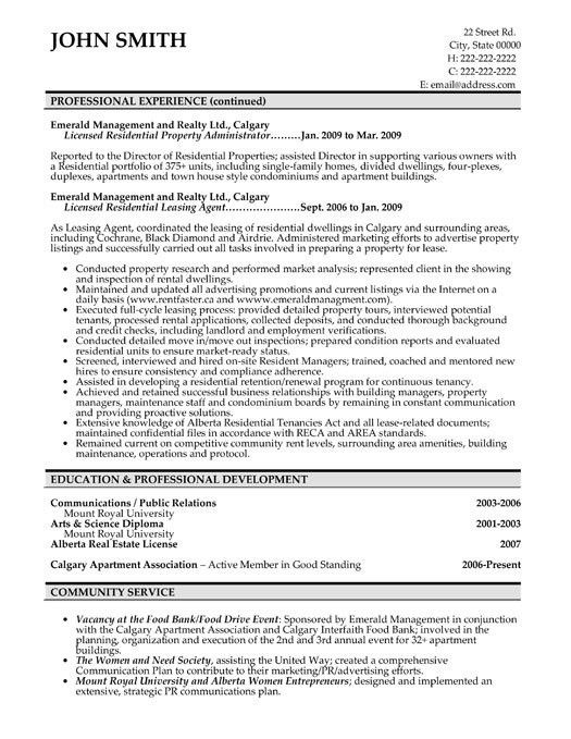 13 property manager resume sample riez sample resumes. there are ...