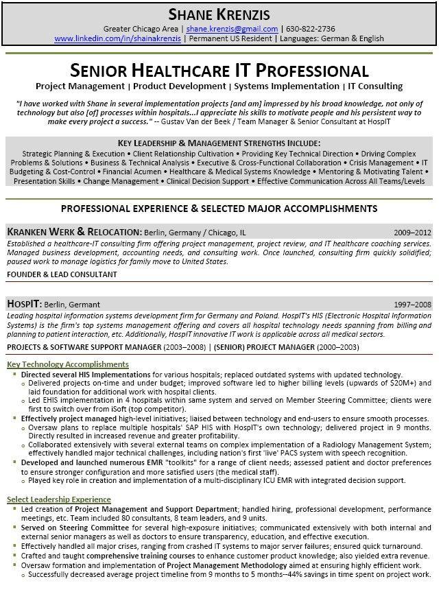 It Professional Resume | Sainde.org
