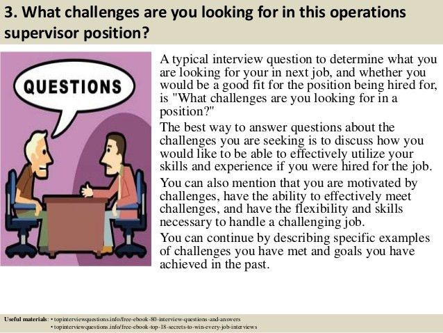 Top 10 operations supervisor interview questions and answers