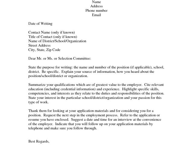 image result for cover letter email heading. best sample who to ...