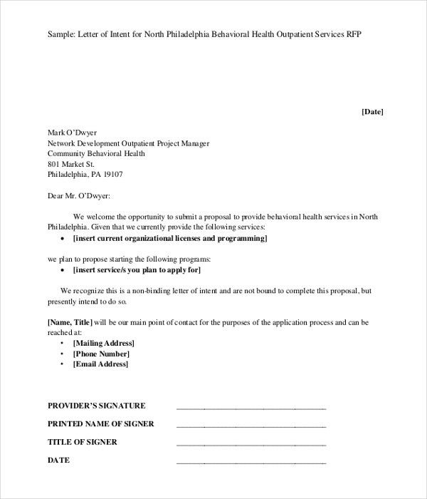 12+ Letter of Intent Templates - Free Sample, Example, Format ...