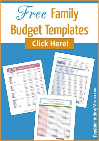 Free Family Budget Templates - Organize Your Family's Budget